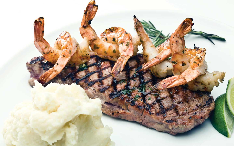 New York Steaks with Shrimp